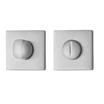 Дверная ручка на розетке Lario хром сатин + накладка WC