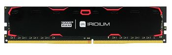 4GB DDR4-2400  GOODRAM Iridium, PC19200, CL17, 1.2V, Aluminum BLACK heatsink
