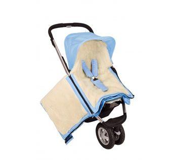 купить Конверт в коляску/автокресло на овчине Womar бежевый в Кишинёве