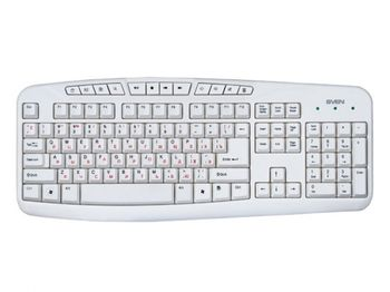купить Keyboard SVEN Comfort 3050, Multimedia, White, USB в Кишинёве