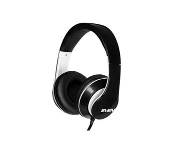 SVEN AP-940MV Black-White, Headphones with microphone, 3.5mm (4 pin) or 2*3.5 mm (3 pin) stereo mini-jack, Call receive/Pause button, Flat cable, Cable length: 1.2m + 1m (adapter for PC), Black/White