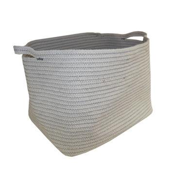 купить Корзина веревочная 360x260x270 мм, белый в Кишинёве