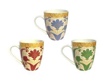 Чашка керамическая с цветком 350ml