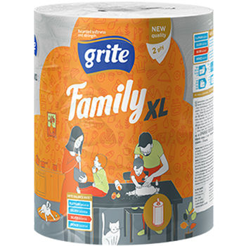 cumpără GRITE - Prosop de bucatarie 2str Family XL, 1 rola, 45m în Chișinău
