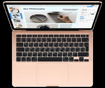 "купить Laptop Apple MacBook Air, 13.3"" Gold, Retina 2560x1600, Intel Core i3-1000NG4 1.1GHz-3.2GHz, DDR4 8GB, SSD 256GB, Intel Iris Plus, 802.11ac, 2xThunderbolt v3 2xUSB3.2-C Alternate Mode, Mac OS Catalina, RU, 50Wh, 1.29Kg (MWTL2) в Кишинёве"