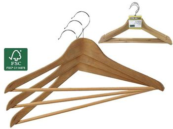 Набор вешалок FSC 3шт 45cm, дерево