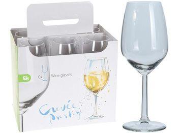 Набор бокалов для белого вина EH 6шт, 350ml, H20сm