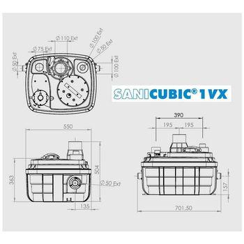 купить Канализационая насосная станция SANICUBIC 1 XL WX (VORTEX) в Кишинёве