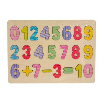 Рамка-вкладыш Цифры с примером, код 126604