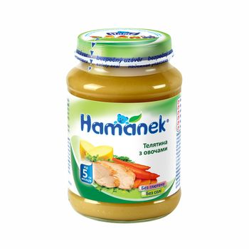 купить Пюре Hamanek телятина с овощами с 5 месяцев, 190г в Кишинёве