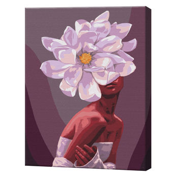 В обьятиях цветов, 40х50 см, картина по номерам  BS51361