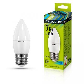 Лампа энергосберегающая Ergolux C35 7W E27 45K