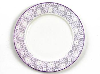Тарелка 25.5cm сервировочная Ambra, сиреневая, керамика