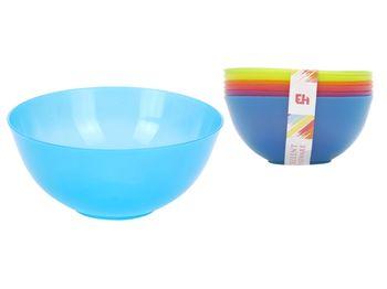 Набор салатниц EH 6шт, 13cm, пластик, разных цветов