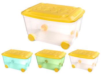 Контейнер для игрушек Пластишка 45l, 58X39X33.5cm, прозрачн