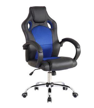 Игровое кресло CX 6207 черно-синее