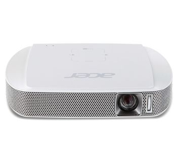 ACER C205 LED Projector (MR.JH911.001) DLP, WVGA, 854x480 up to 1280x800, Contrast 1000:1, 150 Lm, 20 000 hours, HDMI (MHL), USB A, Li-ion Battery (3.7V, 3980mAh), White, 0,3kg