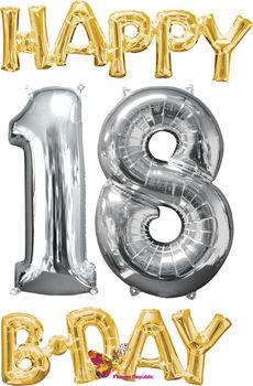 """cumpără Set baloane """"Happy 18 B-day"""" în Chișinău"""