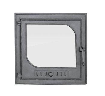 Дверца чугунная со стеклом левая LEZKA