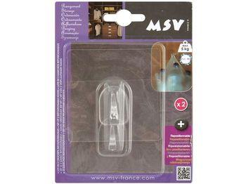 Крючки самоклеющиеся 2шт квадрат 8cm, прозрачные, пластик