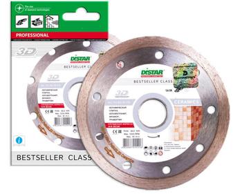 купить Алмазный отрезной диск Distar 1A1R 125x1,7x8x22,23 Bestseller Ceramics в Кишинёве