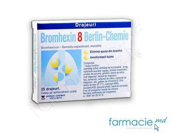 купить Бромгексин,драже 8 мг N 25 (Germania) в Кишинёве