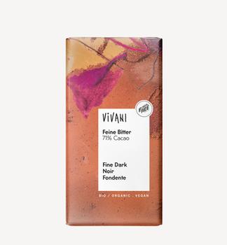 Темный шоколад 71% био Vivani 100г