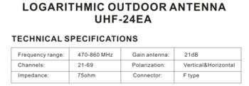купить UHF-24EA - Активная Directional Logperiodic HDTV aerial АНТЕННА ТВ в Кишинёве