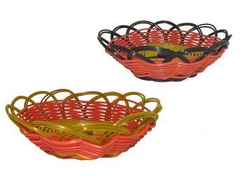 Хлебница плетеная двухцветная 15X5cm