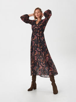 Платье RESERVED Черный с принтом xo497-mlc