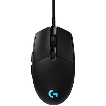 Logitech PRO Gaming Mouse, High-speed, HERO 16K Gaming Sensor, Mechanical Button Tensioning System,  6 Programmable buttons, 100-16000 dpi, LIGHTSYNC RGB, Onboard memory: 5 profiles