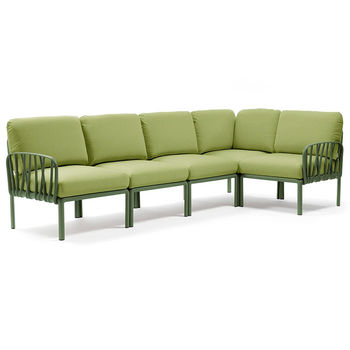 Диван с подушками Nardi KOMODO 5 AGAVE-avocado Sunbrella 40370.16.139 (Диван с подушками для сада и терас)