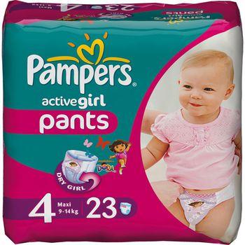 Pampers active girl - подгузники трусики 4