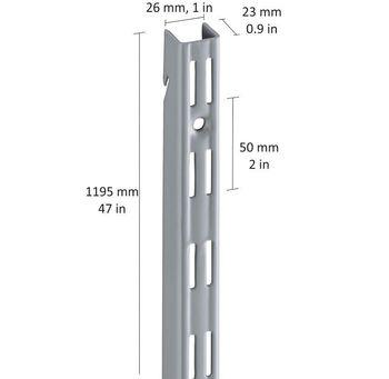 cumpără Profil perete perforaţie cu agăţare 1195 mm, gri în Chișinău