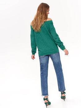 Pulover TOP SECRET Verde SBL0685ZI