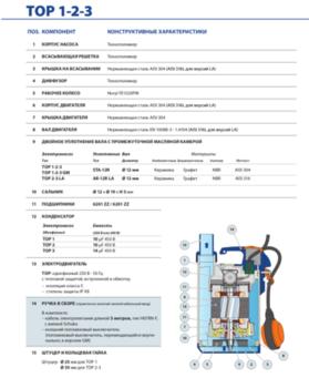 купить Дренажный электронасос для агрессивных жидкостей Pedrollo TOP-2  LA 0.37 кВт в Кишинёве
