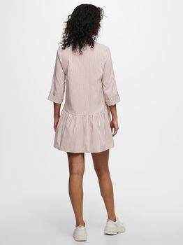 Платье ONLY Бежевый в полоску