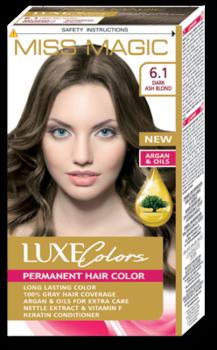 Краска для волос,SOLVEX Miss Magic Luxe Colors, 108 мл., 6.1 - Тёмный пепельно-русый