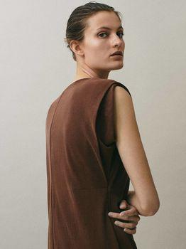 Платье Massimo Dutti Коричневый 6630/766/749