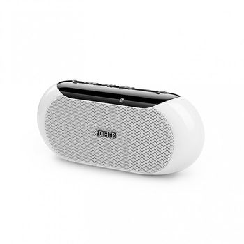 "Edifier MP211 White, Portable Speaker, 4W (2x2W) RMS, Bluetooth 4.0, NFC, Micro SD card  &  AUX Input (MP3/WMA), Rechargeable Lithium battery up 10 hours working, (1.5"")"