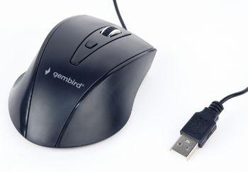 Gembird MUS-4B-02, Optical Mouse, 1200dpi, 4-button, USB, Black