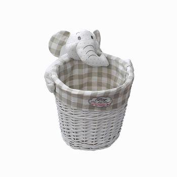 cumpără Coş cu elefant 180x160 mm, alb în Chișinău