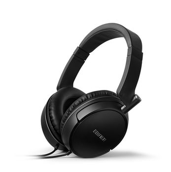 Edifier H840 Black Headphones with microphone, 3.5 mm jack, Dynamic driver 40 mm, Frequency response 20 Hz-20 kHz, On-ear controls, 2m