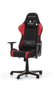 Gaming Chairs DXRacer - Formula GC-F11-NR-H1, Black/Black/Red - Fabric & PU, Gamer weight up to 100kg / growth 145-180cm, Foam Density 52kg/m3, 5-star Aluminum IC Base, Gas Lift 4 Class, Recline 90*-135*, Armrests: 3D, Pillow-2, Caster-2*PU, W-23kg