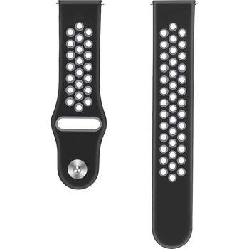 купить Ремешок Samsung Gear S3/Watch 46mm/Huawei Watch GT-22mm, Silicone,Tellur Black/Gray в Кишинёве