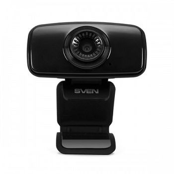 Camera SVEN IC-535, Microphone, 2Mpixel CMOS, fixed focus, tilt angle adjusting, comfortable mounting clip for camera fixation, USB2.0, Black