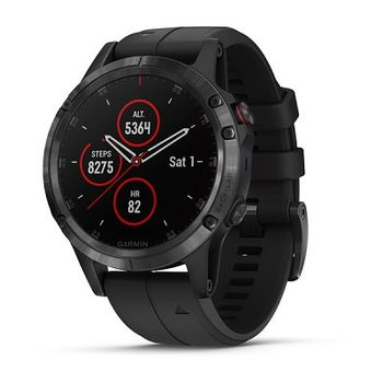 """GARMIN fenix 5X Sapphire Black with black band, Multisport GPS Watch for Sport, 1.2"""",Water rating 10ATM, Battery life Smart mode: Up to 2 weeks, 16GB, GPS, Compass, Bluetooth, Smart, ANT+, Wifi, Smart notifications and Activity Tracking Features, 86g"""