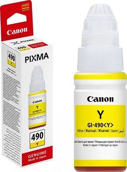 Ink Bottle Canon GI-490 Y, yellow, 70ml for PIXMA G1400/G2400/G3400