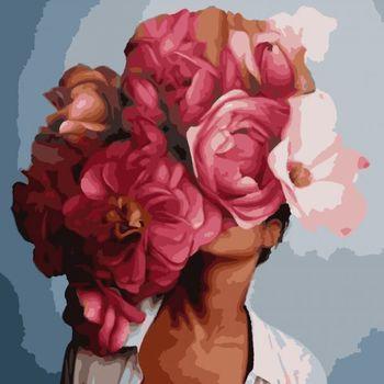 PN7604 Картина на номерах Artissimo «Женские фантазии», 3 *, 24 цветов, 40х50 см