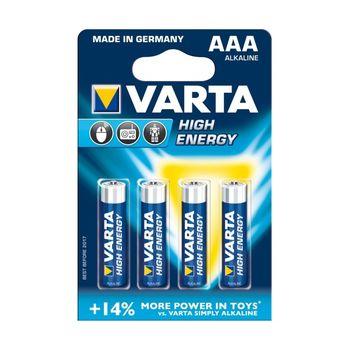 купить Батарейки Varta AAA High Energy 4 pcs/blist Alkaline, 04903 121 414 в Кишинёве